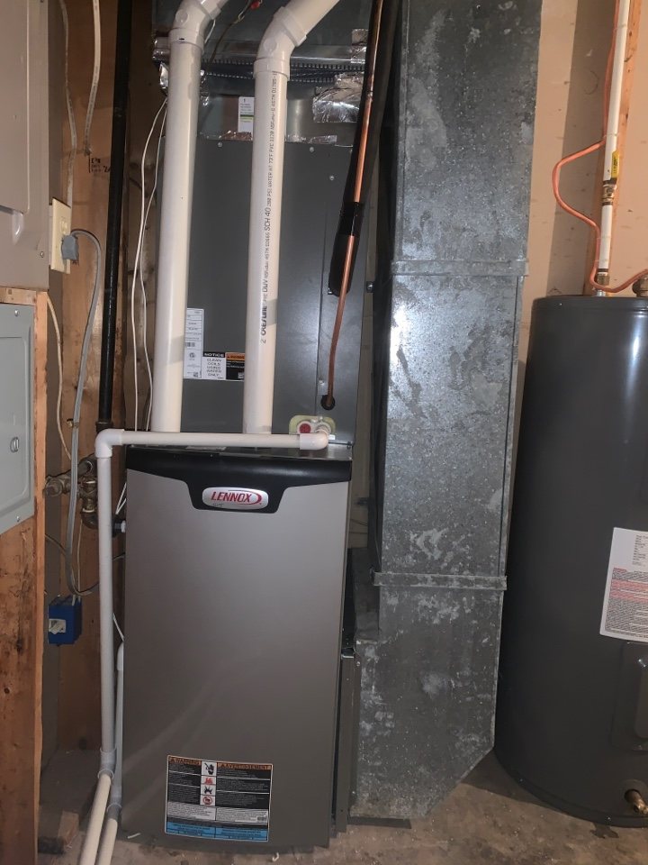 Kimberling City, MO - Installed a new gas furnace and heat pump duel fuel system