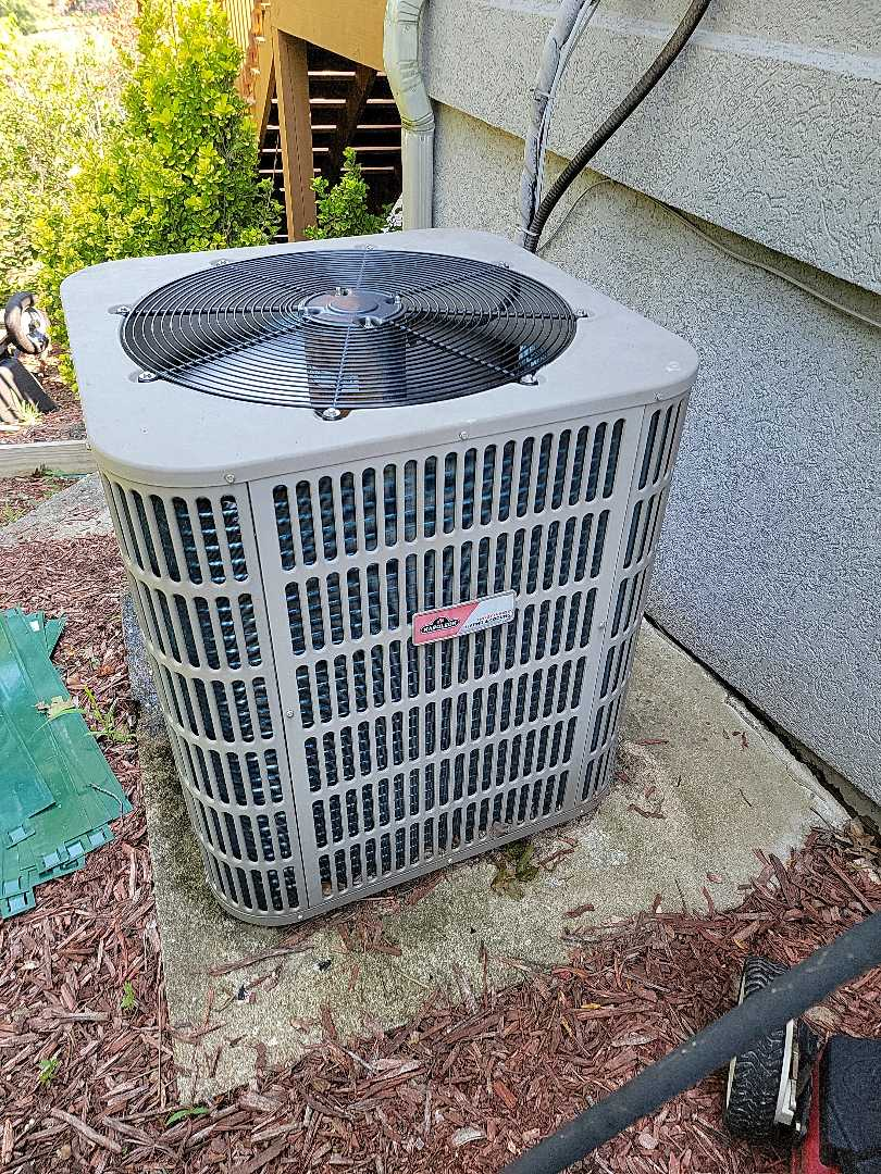 Came out to do a check on a napoleon  heatpump. Made some minor adjustments to fan settings and checked the charge. System was operating properly.