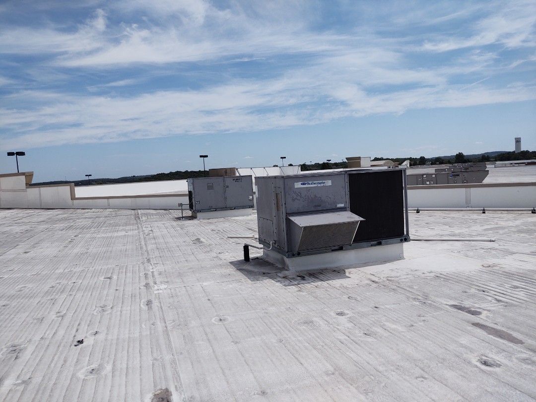 2 carrier roof top units unit 1 had broke fan blade on 1 of the condenser motors replaced blade system m running and cooling unit 2 had bad condenser fan motor replaced motor system running and cooling. Now with both systems running store is starting to cool down and getting more comfortable