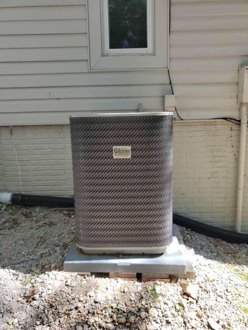 No a.c on carrier heat pump with Gibson outdoor unit. Diagnosis- Found outdoor unit fan run capicitor shorted. Solutions- Replaced run capicitor and tested system. Looks great at this time.