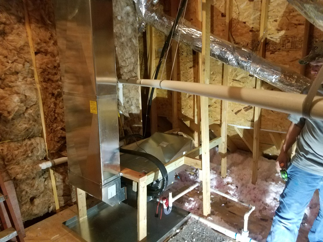 Lampe, MO - Brand new Lennox ducted mini split and changed duct work on upper system.