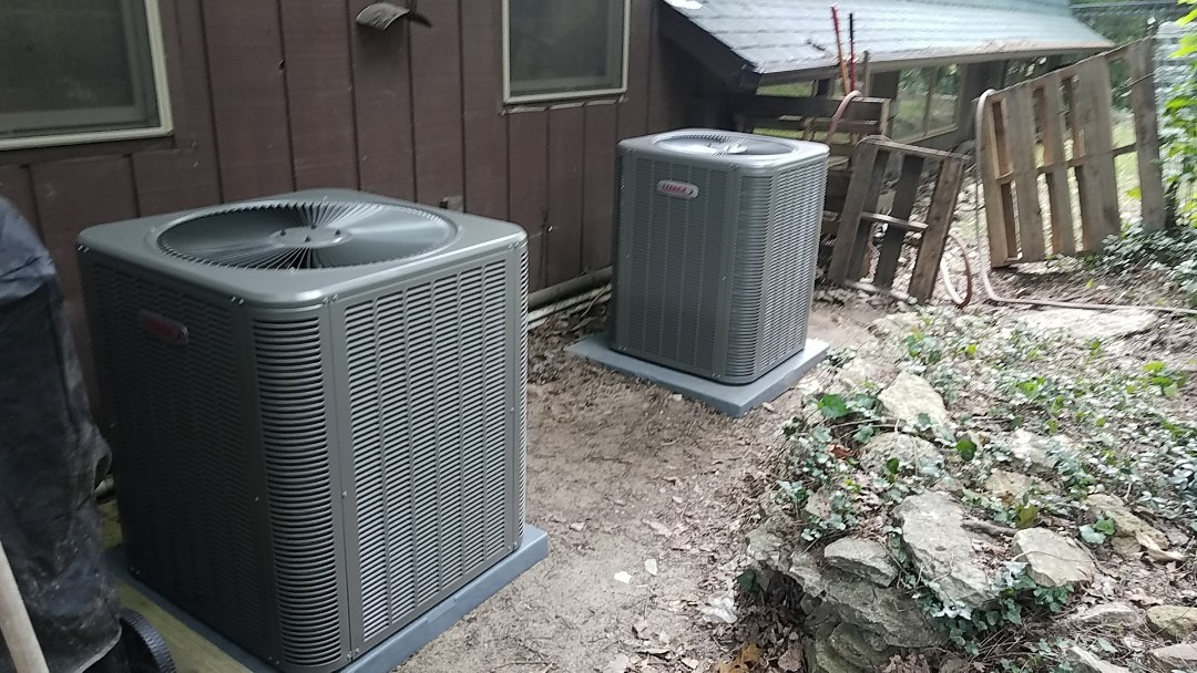 Branson West, MO - 2 new Lennox heat pumps systems with backup heat.