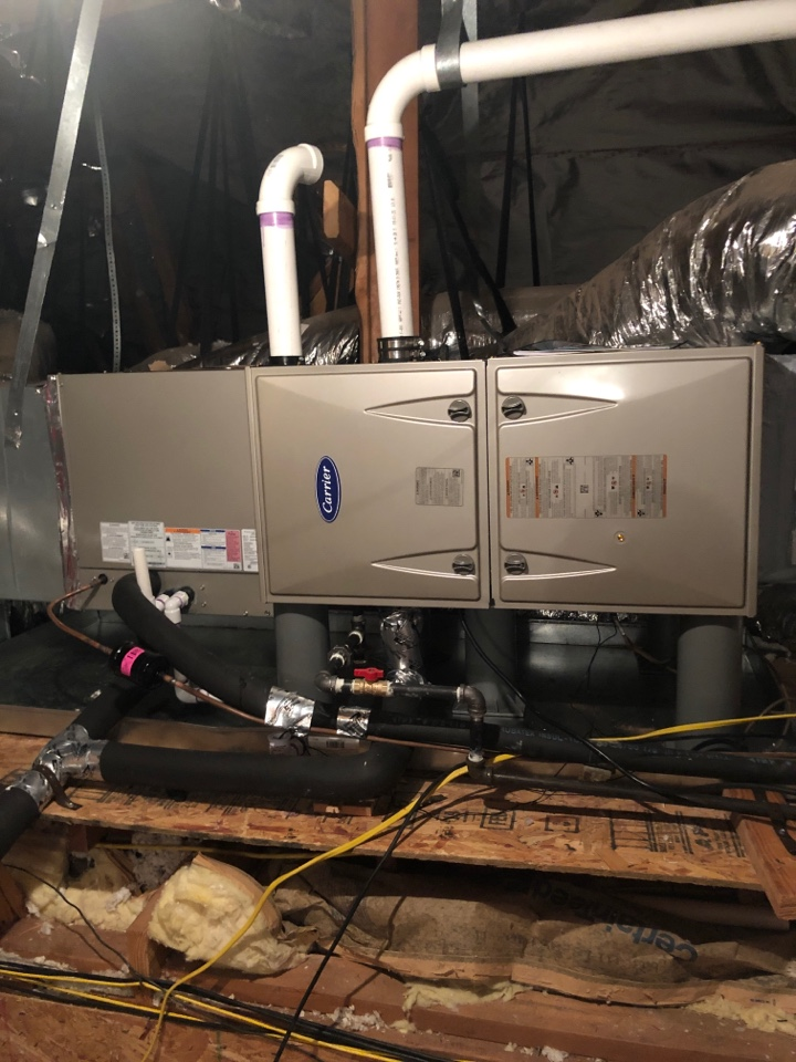 Change out full system at a house in NW okc. Changed 80% furnace to 90% efficiency.