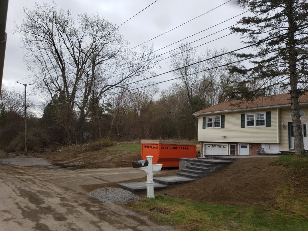 Wynantskill, NY - Dropping a 20 yd dumpster for brush clean up and shed demo, Wynantskill NY 12198.