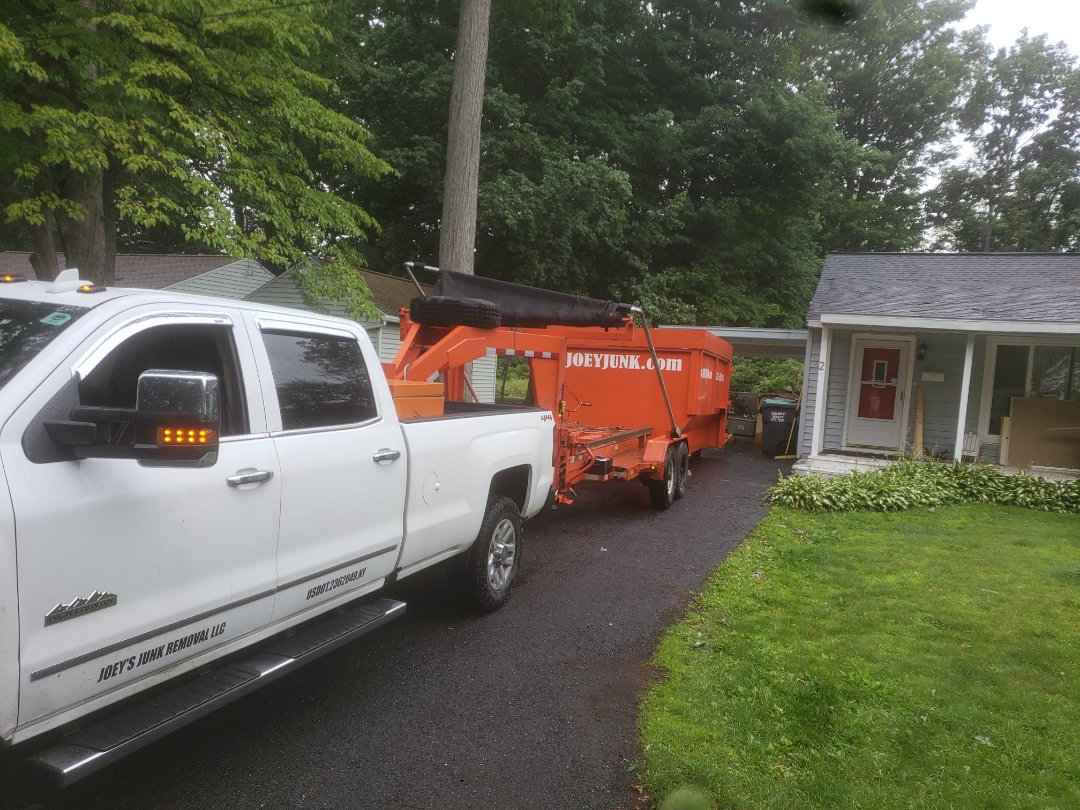 Watervliet, NY -  20 yd dumpster dropped off in Rensselaer New York ,12144 for construction project house remodel..