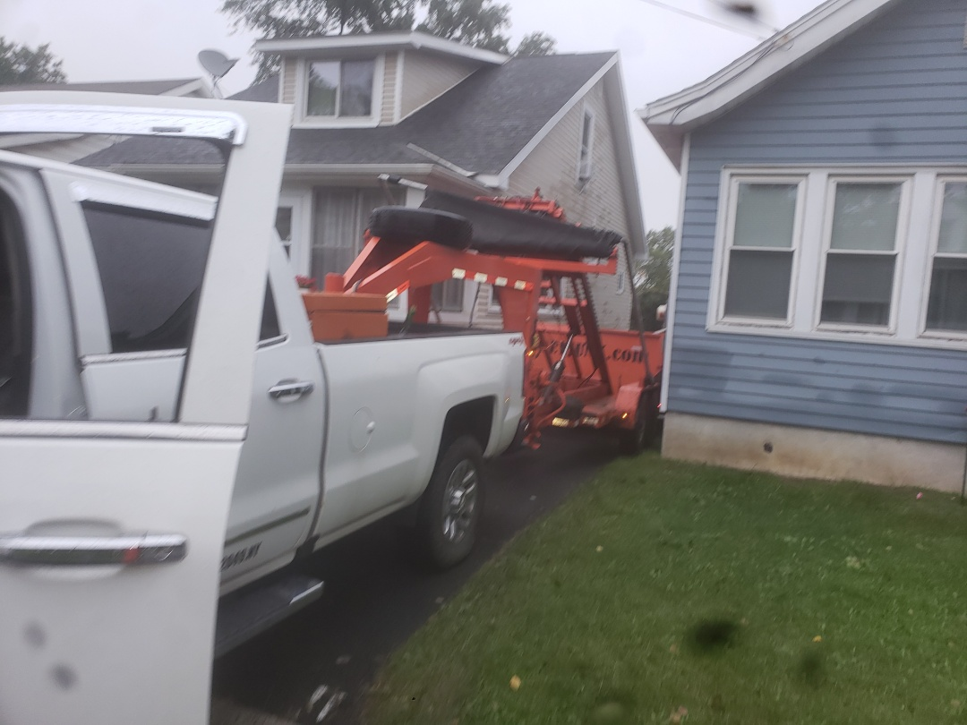Cohoes, NY - Do you need a dumpster for a roof job call Joe @ 518-237-junk 518-237-5865,  Joeyjunk.com.  Cohoes New York, 12047.