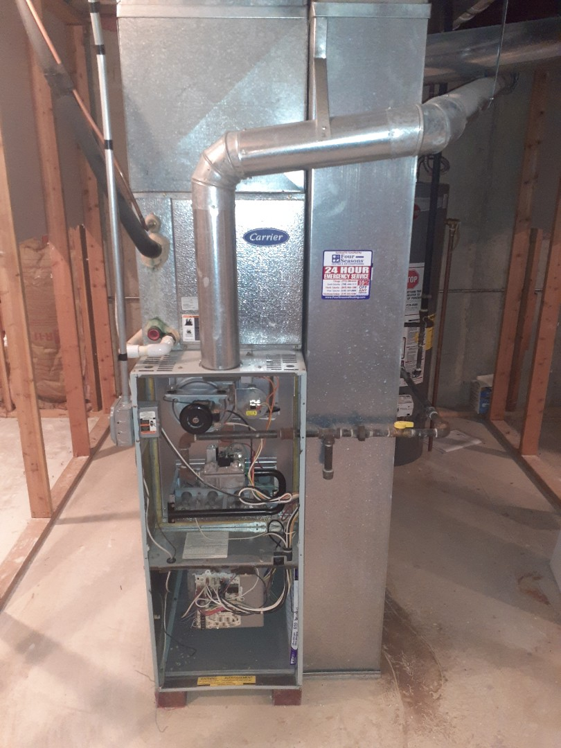 Schaumburg, IL - Furnace repair turned into a furnace sale as the inducer was bad on a 22 yr old unit in Schaumburg, IL