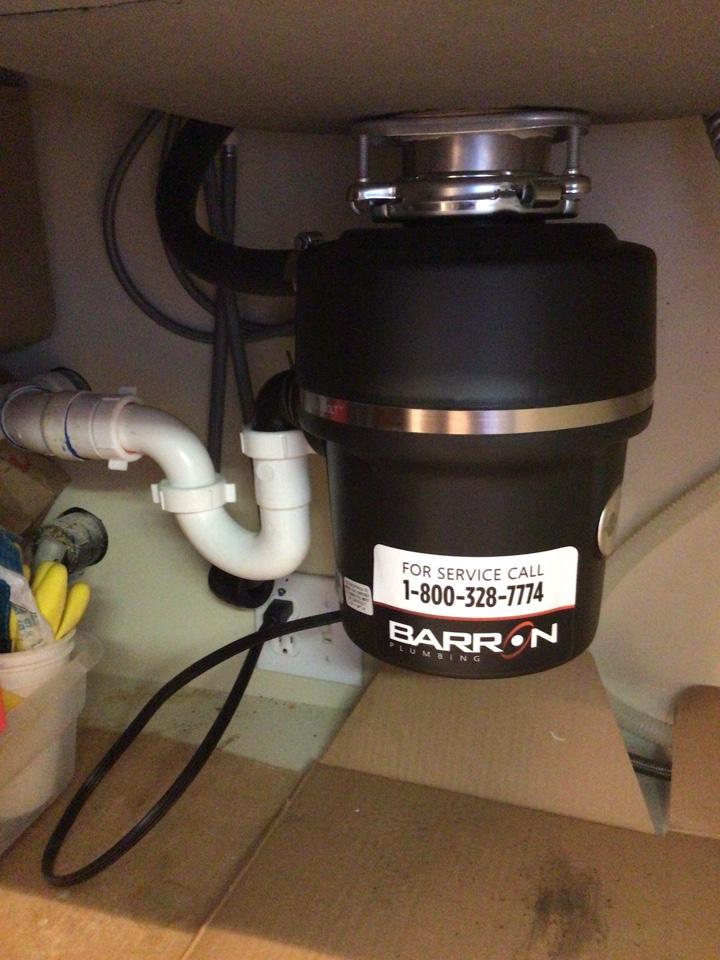 Bellingham, WA - Disposal replacement in Bellingham, WA.
