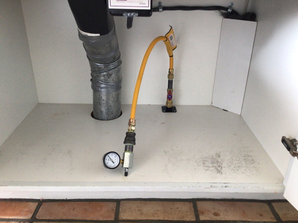 La Conner, WA - Performing a cooktop gas line installation for a customer in La Conner, WA.