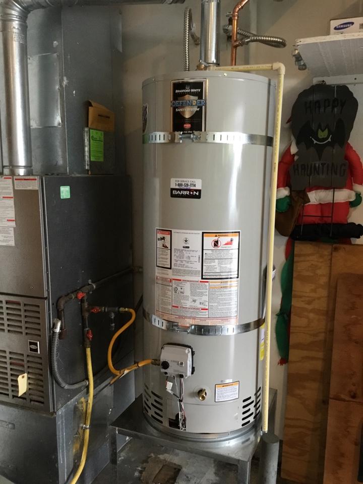Blaine, WA - Installed a 50 gallon Bradford White water heater for a family in Blaine, WA.