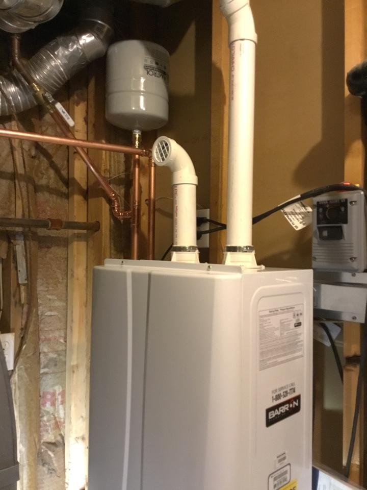 Lynden, WA - Navien NPE-240A tankless water heater install in Lynden