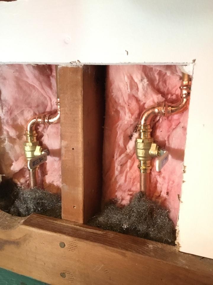 Lummi Island, WA - Updated gate valves under lav sink with 1/4 turn ball valves