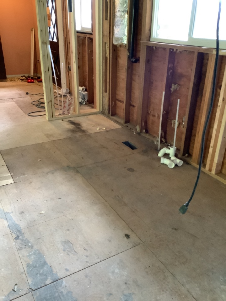 Lynden, WA - Doing a rough in on a kitchen remodel and repiping the whole house to have proper water volume in Lynden, WA.