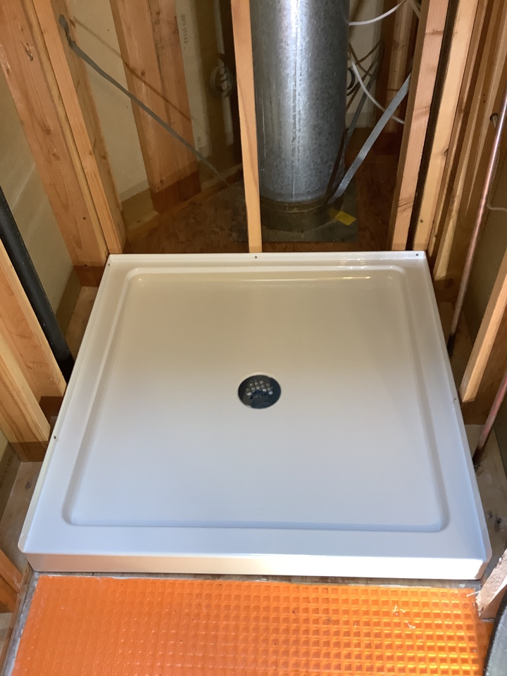 Anacortes, WA - Installing a shower pan in a condo in Anacortes wa