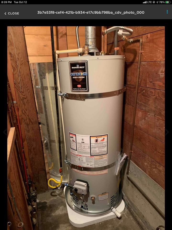 Bellingham, WA - Installing a new 50 gallon gas water heater. Bellingham wa