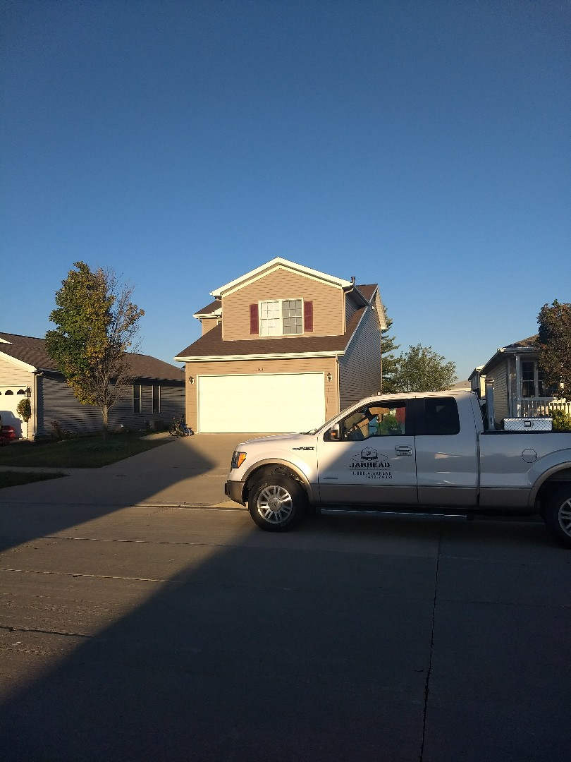 Bloomington, IL - New roof in Bloomington. GAF Timberline HD shingles mission brown.