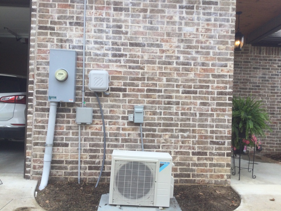Performed a three system tuneup. Two Amana split systems and one mini split made by daikin. Found two low capacitors on each air conditioner and the mini split was low on charge of 410 A by 1 pound and Van Buren Arkansas. Advise customer of the issues going on and they decided to go ahead and make the repairs and I had everything I needed at the time to make the repairs.