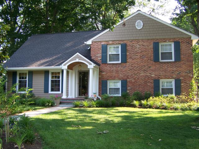 Alexandria, VA - Another beautiful portico with gutters and siding in Alexandria, VA!