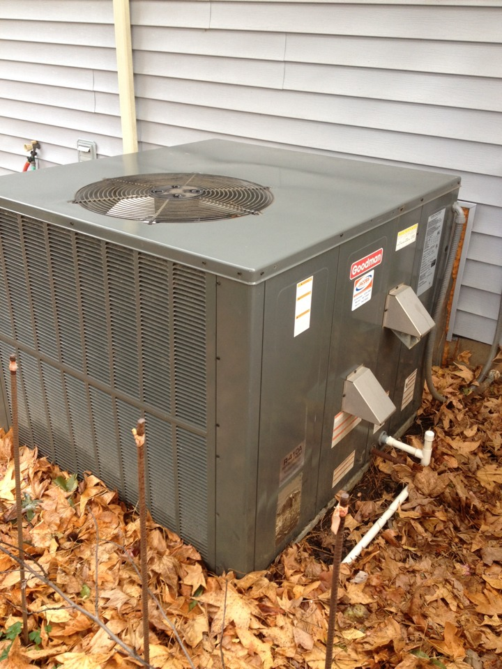 Herrin, IL - Fall maintenance- furnace tune up and cleaning residential package unit