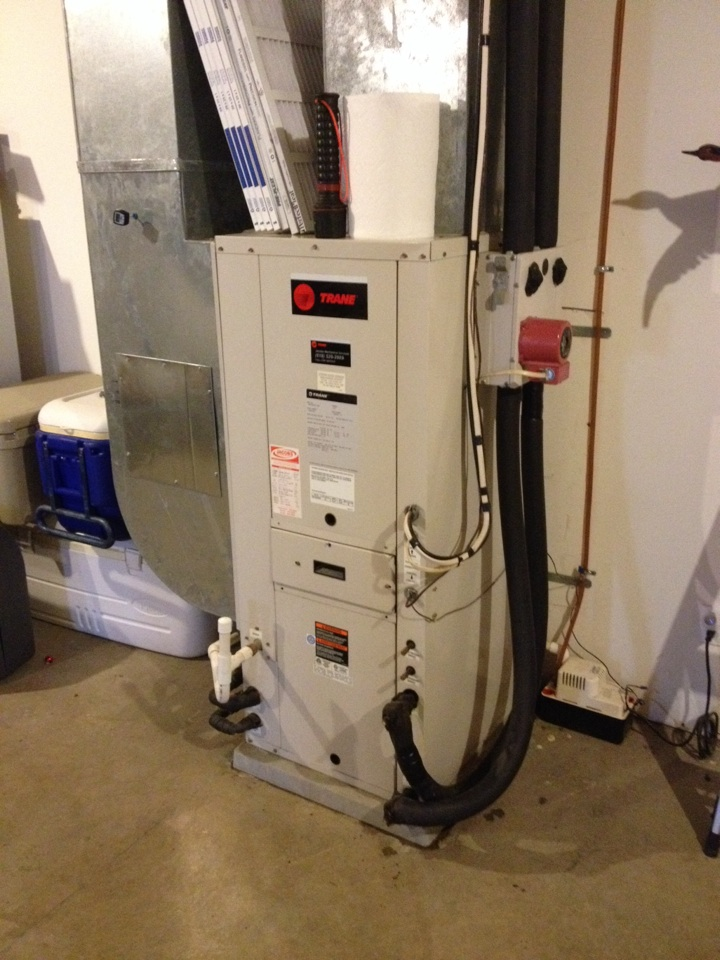 Cobden, IL - Fall maintenance- furnace tune up and cleaning geothermal unit
