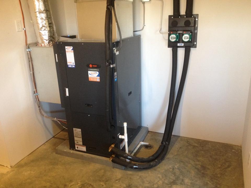 Du Quoin, IL - Trane Geothermal Heat Pump Installation