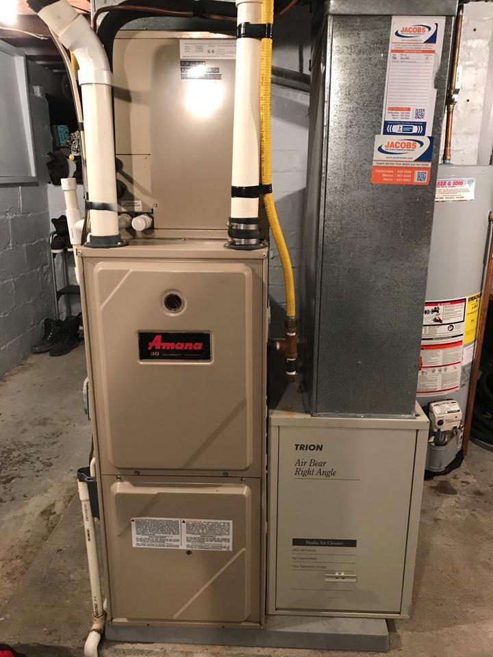 Murphysboro, IL - Amana gas furnace fall maintenance