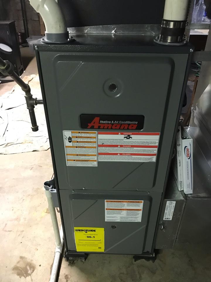 Amana gas furnace and Goodman electric heat fall maintenance