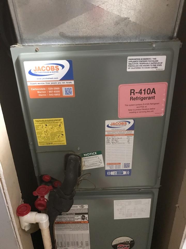 Murphysboro, IL - FHP geothermal and Ruud air handler fall maintenance