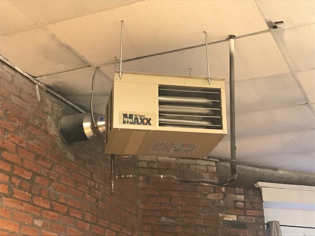 Makanda, IL - Installation of Hanging Gas Heater