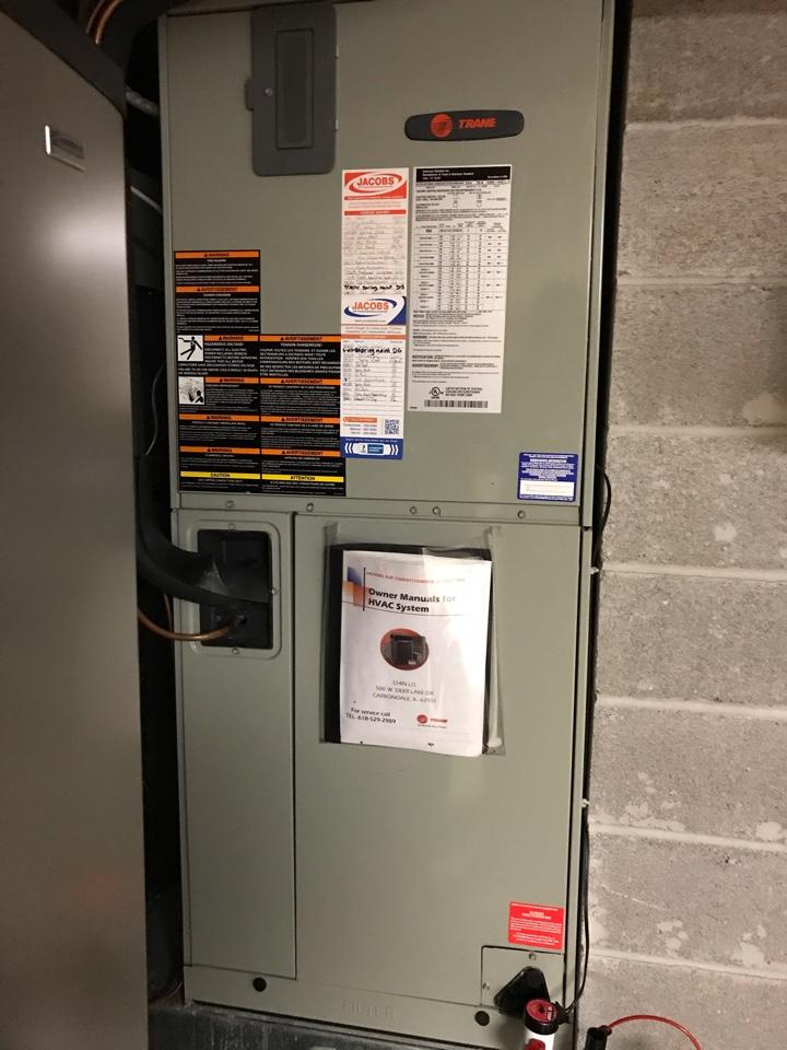 Murphysboro, IL - Trane electric heat pump fall maintenance