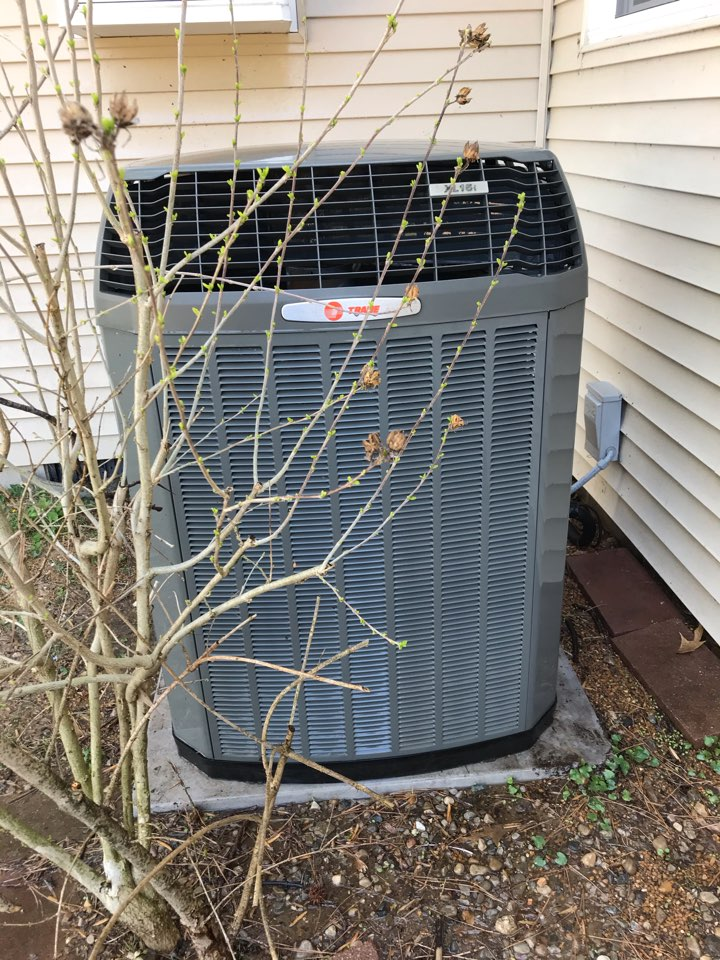 Carbondale, IL - Spring maintenance on Trane air conditioner