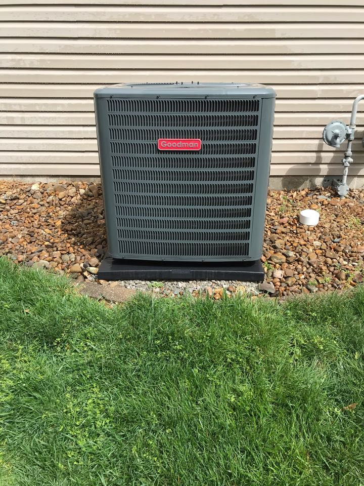 Carbondale, IL - Complimentary spring maintenance on Goodman air conditioner