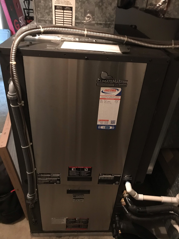 Carterville, IL - Spring maintenance on ClimateMaster geothermal system
