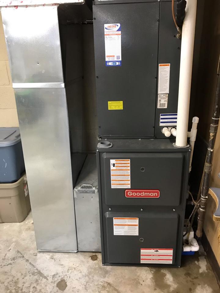 Cobden, IL - Spring maintenance on Goodman air conditioner