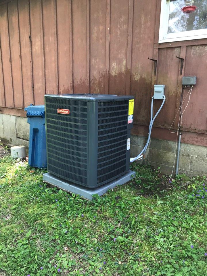 Murphysboro, IL - Complimentary spring maintenance on Goodman heat pump