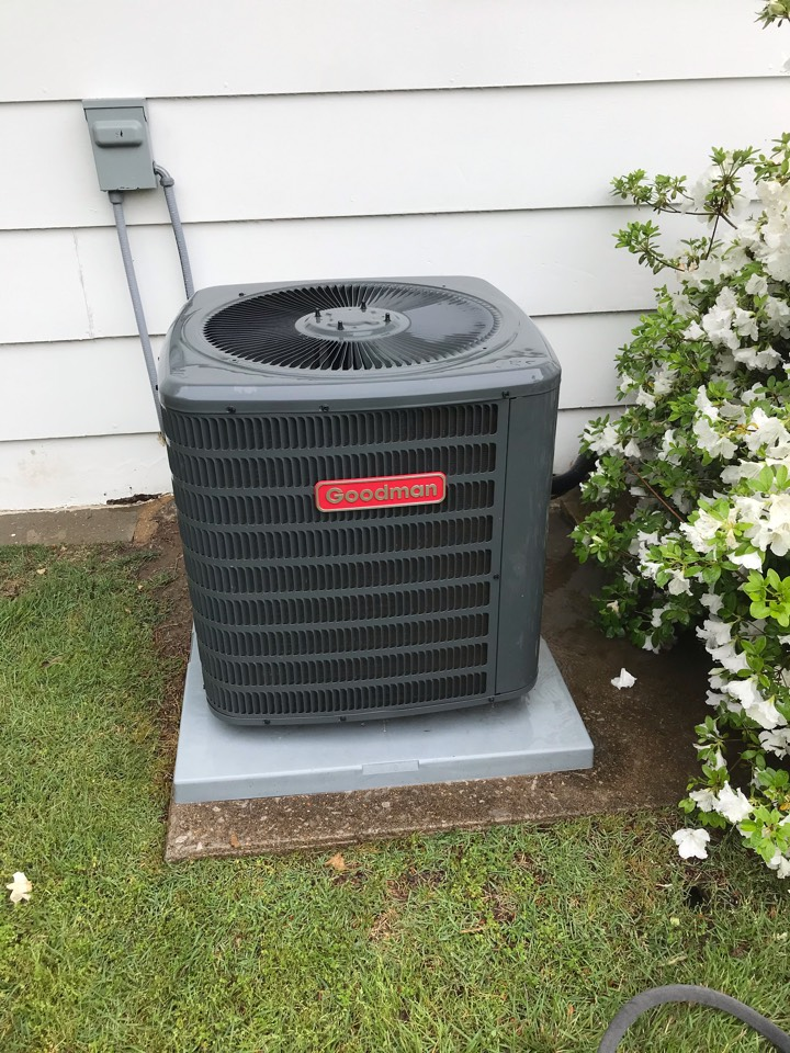 Complimentary spring maintenance on Goodman air conditioner