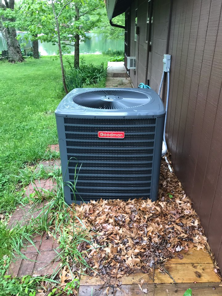 Complimentary spring maintenance on Goodman heat pump