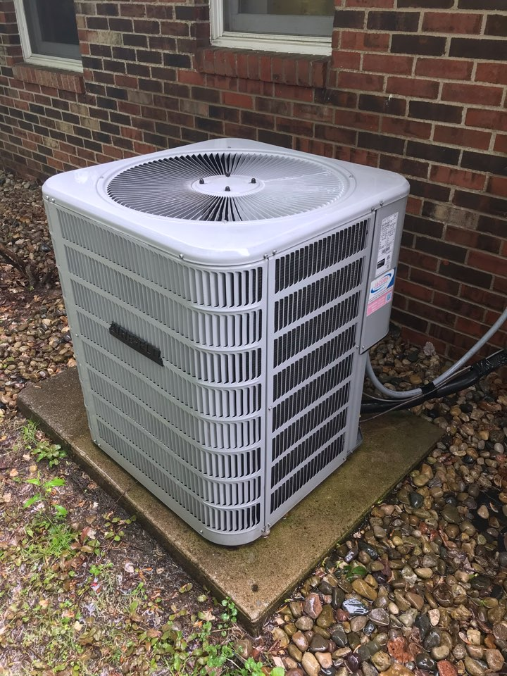 Spring maintenance on Aire-Flo heat pump