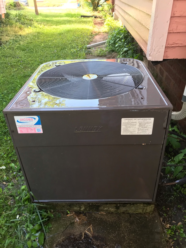 Spring maintenance on Lennox air conditioner