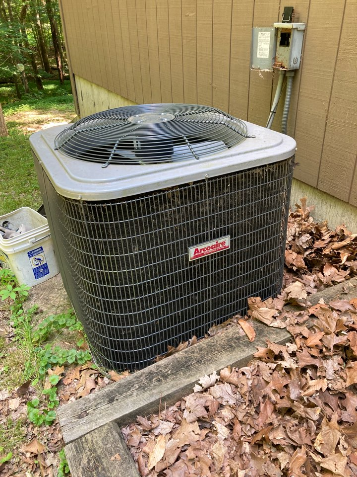 Carbondale, IL - Air conditioning service - repairing an Arcoaire heat pump