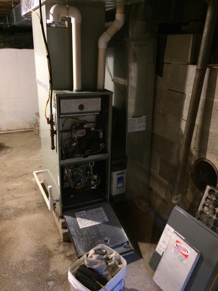 Creal Springs, IL - Heating repair - fixing an American Standard gas furnace
