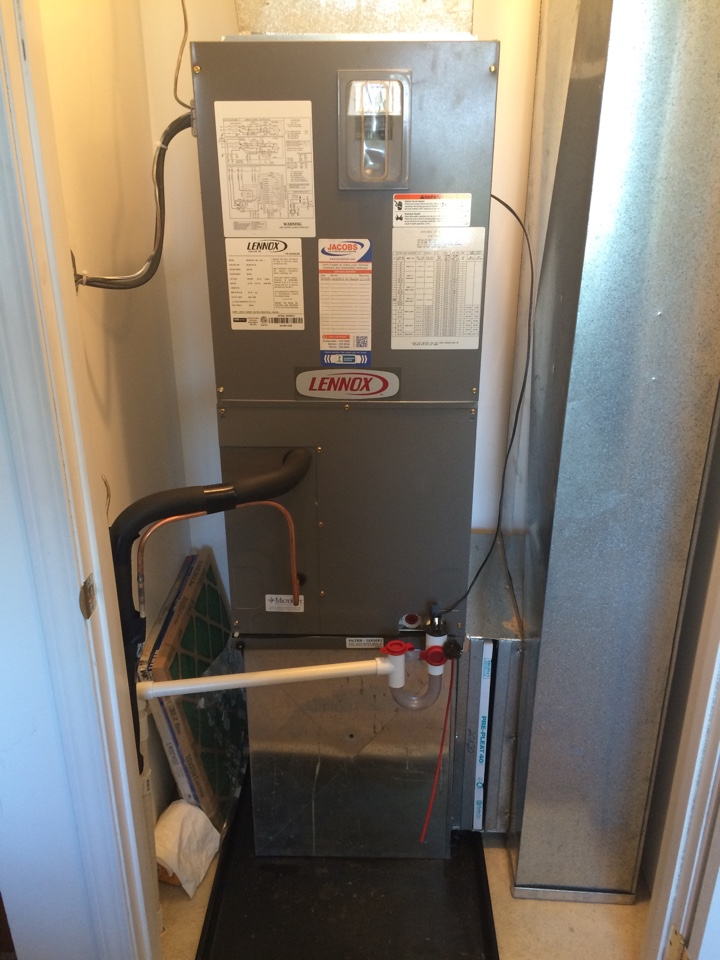 Cobden, IL - Lennox Heat Pump Air Handler Installation