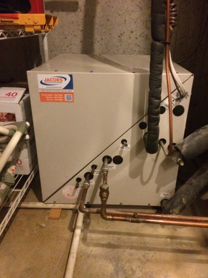 Anna, IL - Trane Split Geothermal Heat Pump System Repair