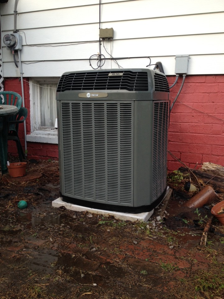 Elkville, IL - AC service - Trane air conditioner got a much needed tune up cleaning maintenance
