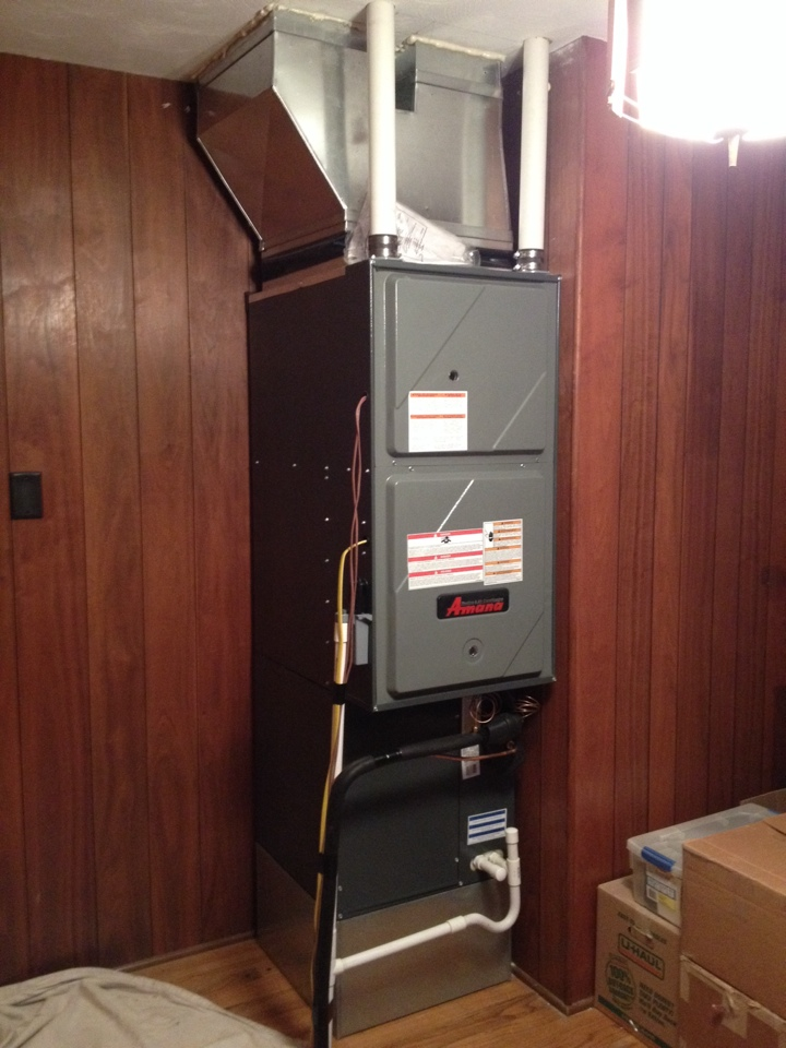 Energy, IL - Installation of a new Amana high efficiency furnace & air conditioner