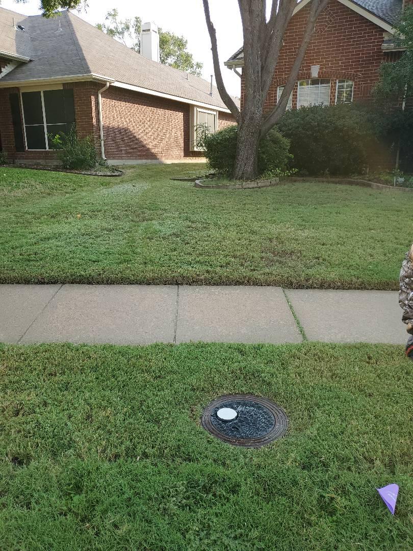 Frisco, TX - Sprinkler system repairs, Replace some broken heads And set Sprinkler controller.
