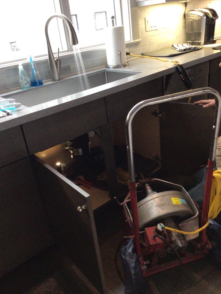 Unclog sink