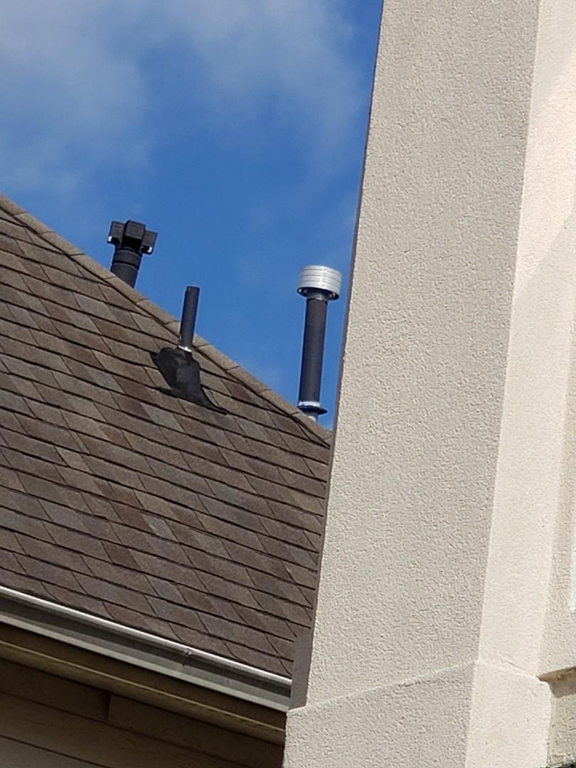 Houston, TX - Water heater leak repair on vent