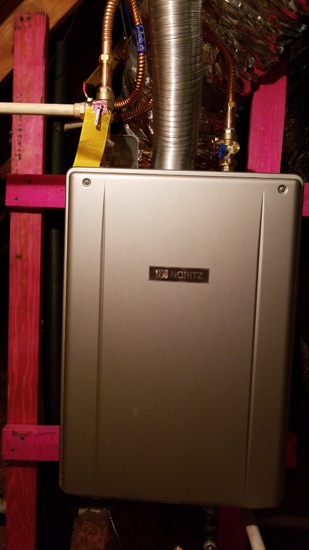 Houston, TX - Tankless water heater installation