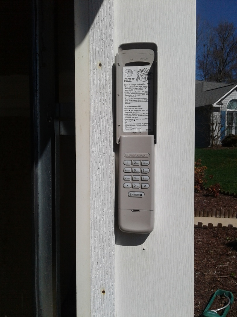 Concord, NC - Reprogram keypad New remote